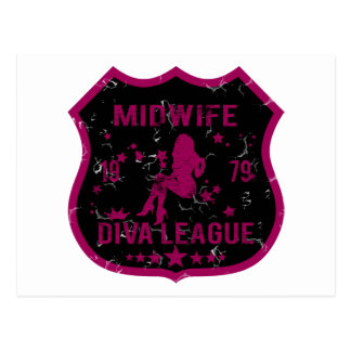 Midwife Diva League Postcard