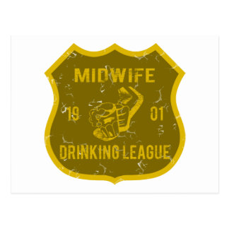 Midwife Drinking League Postcard