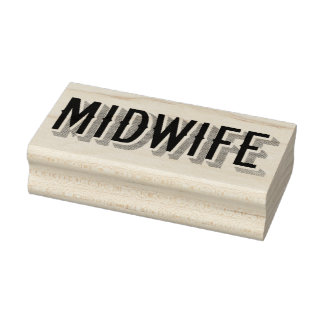 Midwife in Vintage Font Rubber Stamp
