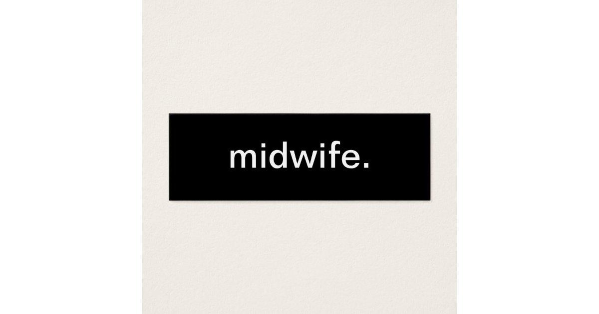 Midwife Nurse Business Card   Zazzle.com