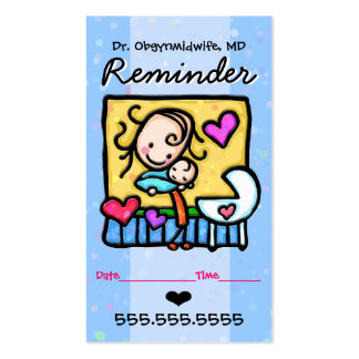 Midwife.OBGYN.Pediatrician.Appointment reminder Business Card
