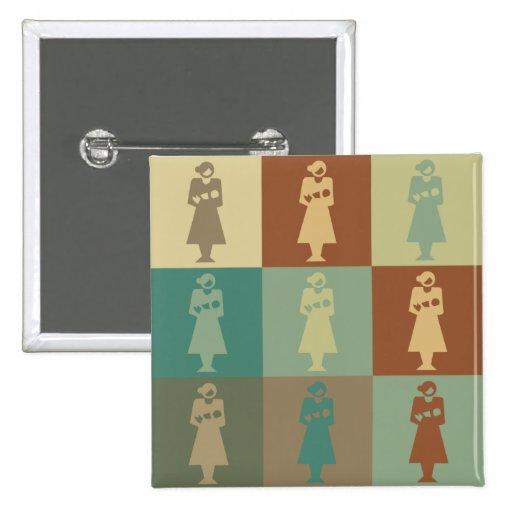 Midwife Pop Art Buttons