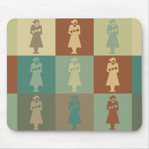 Midwife Pop Art Mouse Pad