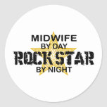 Midwife Rock Star by Night Sticker