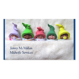 Midwife Services: Sleeping Clay Babies, Fuzzy Business Card