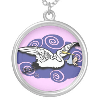 Midwife Silver Plated Necklace