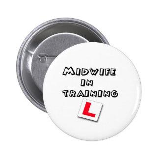 midwife training pinback button