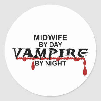 Midwife Vampire by Night Classic Round Sticker