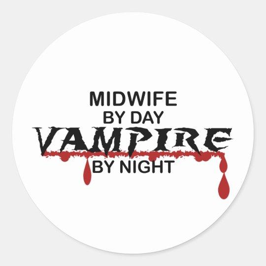 Midwife Vampire by Night Classic Round Sticker