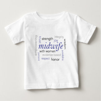 midwife word cloud baby T-Shirt