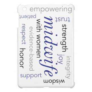 midwife word cloud iPad mini cover