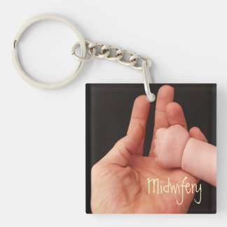 Midwifery Double-Sided Square Acrylic Keychain