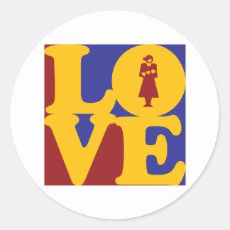 Midwifery Love Classic Round Sticker