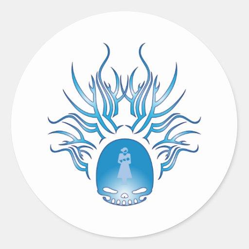Midwifery Skull Classic Round Sticker