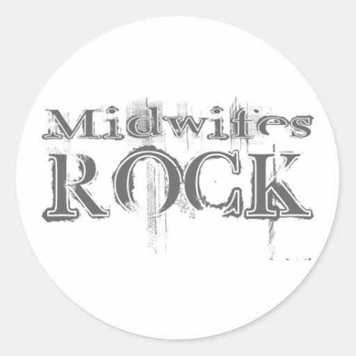 Midwifes Rock Classic Round Sticker