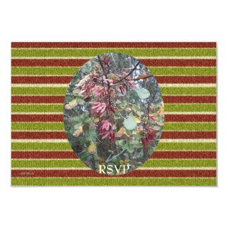 Midwinter Oak & Maple Birthday Stripes RSVP Card