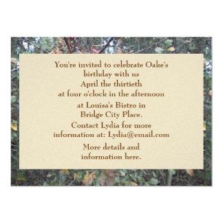 Midwinter Oak & Maple Botanical Birthday Card