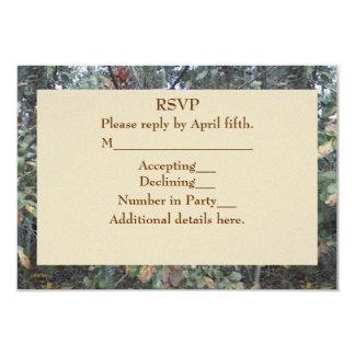 Midwinter Oak & Maple Botanical Birthday RSVP Card