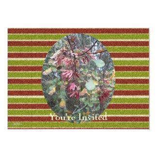 Midwinter Oak & Maple Botanical Birthday Stripes Card
