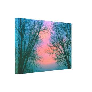 Midwinter Sunset II Canvas Print