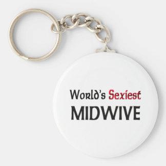 Midwive más atractivo del mundo llavero redondo tipo pin