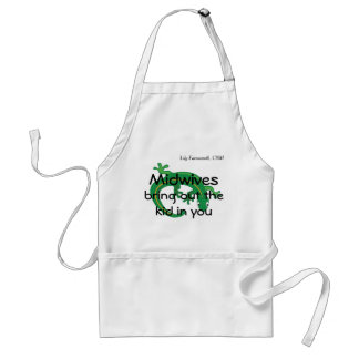 Midwives and Green Lizard Twist Adult Apron