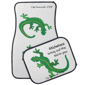 Midwives and Green Lizard Twist Car Floor Mat
