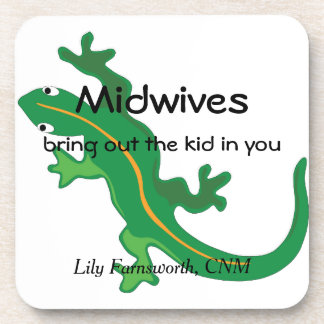 Midwives and Green Lizard Twist Drink Coaster