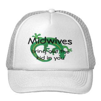 Midwives and Green Lizard Twist Trucker Hat