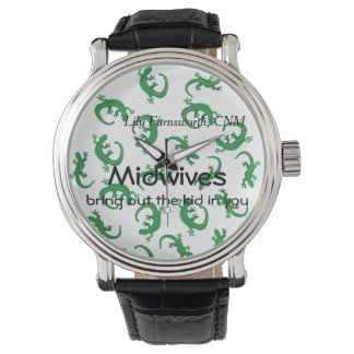 Midwives and Green Lizard Twist Watch