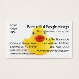Midwives and Yellow Rubber Ducks Business Card