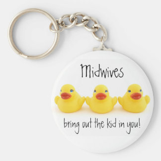 Midwives and Yellow Rubber Ducks Keychain