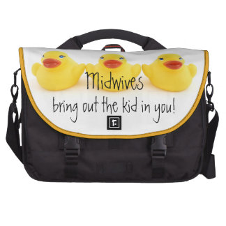 Midwives and Yellow Rubber Ducks Laptop Commuter Bag