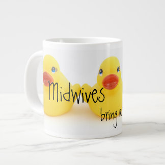 Midwives and Yellow Rubber Ducks Large Coffee Mug