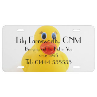 Midwives and Yellow Rubber Ducks License Plate