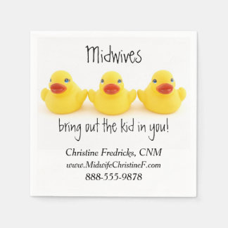 Midwives and Yellow Rubber Ducks Paper Napkin