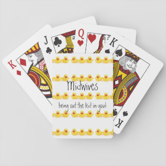 Midwives and Yellow Rubber Ducks Playing Cards