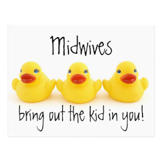 Midwives and Yellow Rubber Ducks Postcard