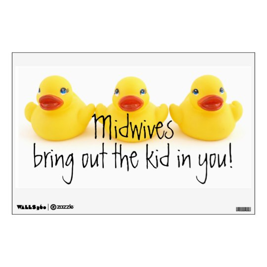 Midwives and Yellow Rubber Ducks Wall Sticker