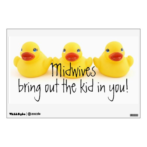 Midwives and Yellow Rubber Ducks Room Decal