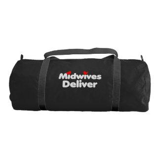Midwives deliver gym bag