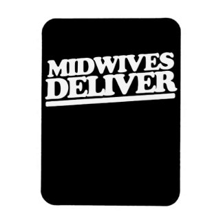 Midwives deliver rectangular photo magnet