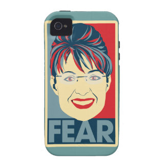 Miedo anti Pardoy de Sarah Palin Case-Mate iPhone 4 Fundas