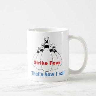 Miedo de la huelga taza de café