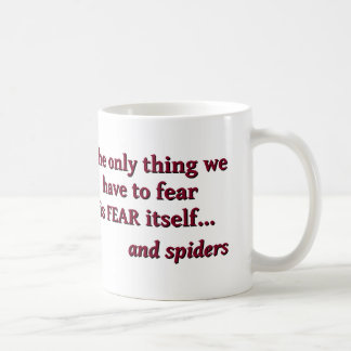Miedo de la taza de las arañas