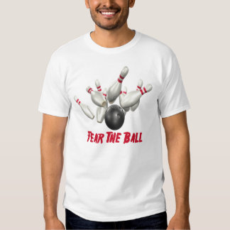 Miedo de los bolos la bola camisas