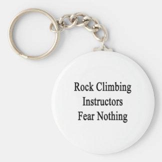 Miedo de los instructores de la escalada nada llaveros