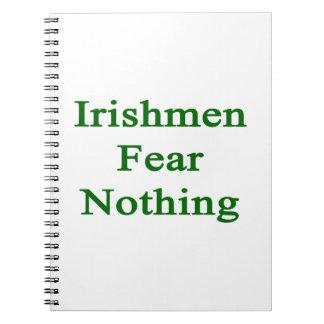 Miedo de los irlandeses nada libretas