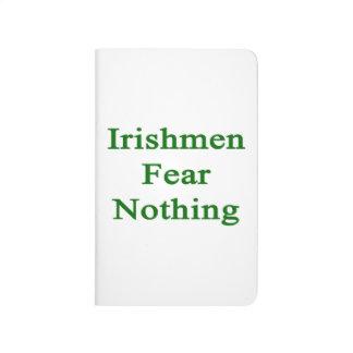 Miedo de los irlandeses nada cuadernos grapados