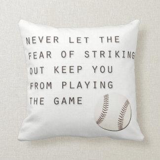 miedo de pegar hacia fuera béisbol moderno cojín
